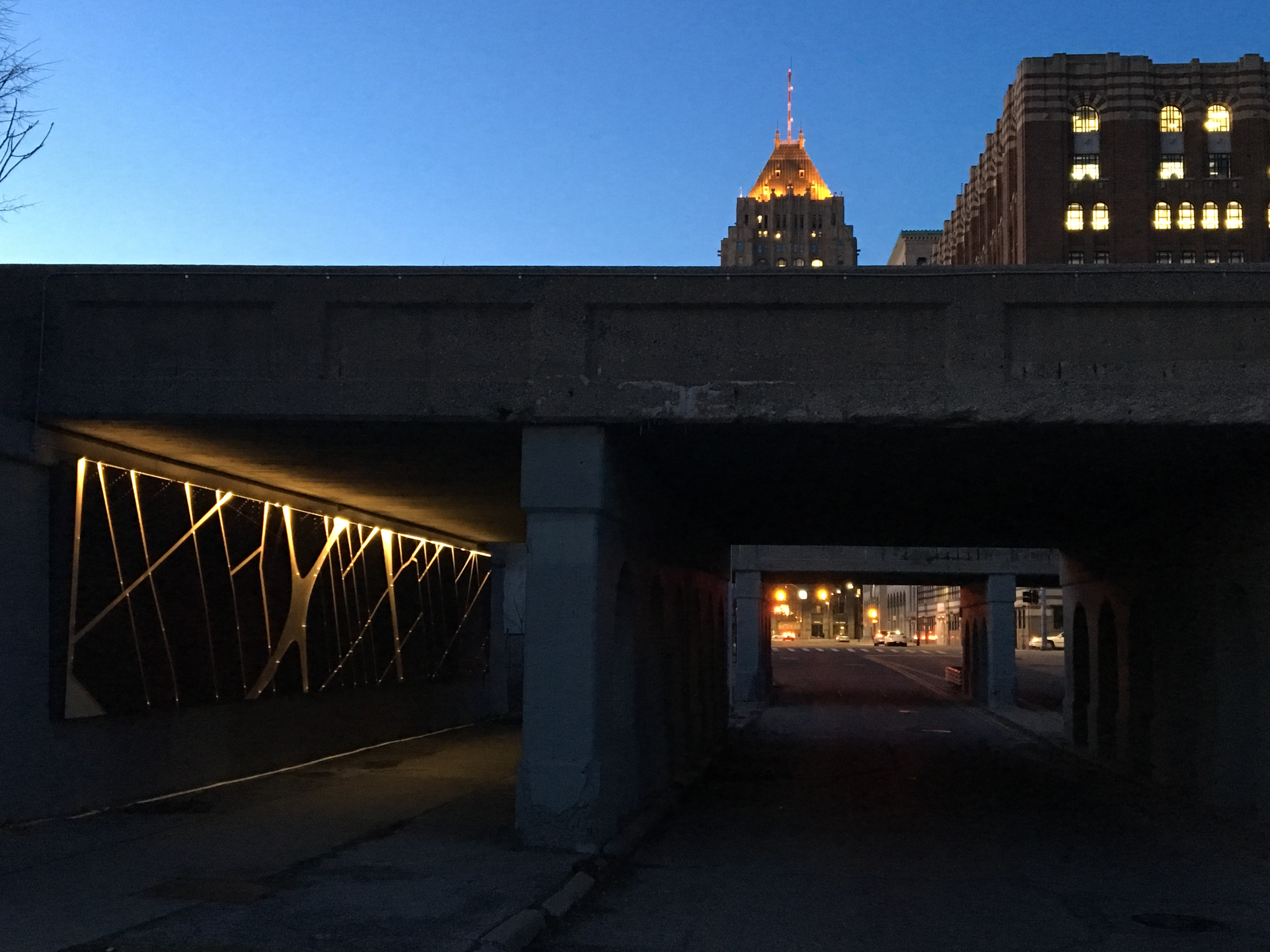 Last 2 viaduct art projects are installed, mostly, in Detroit's New Center