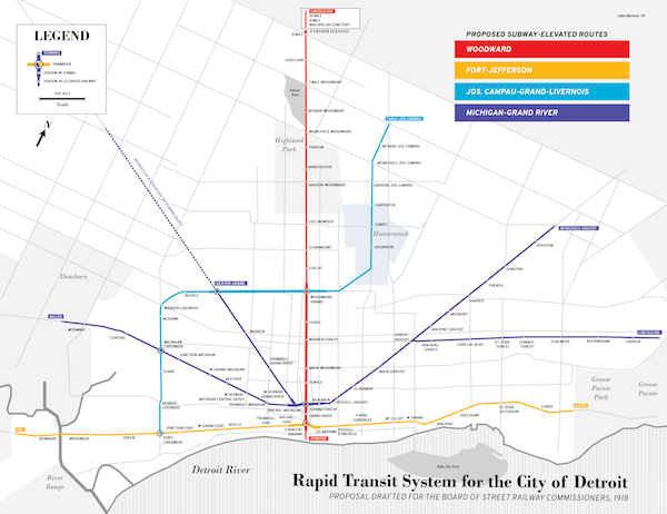 Build Your Own Subway Map.Map Envisions 1919 Detroit Subway Plan And We Re Left To Wonder